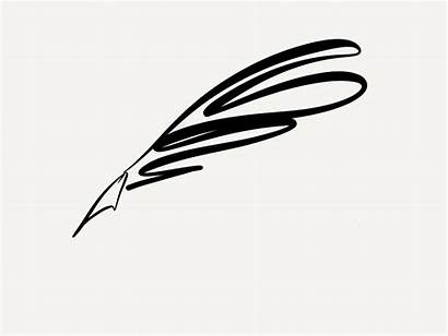 Quill Pen Clipart Writing Clip Feather Fancy