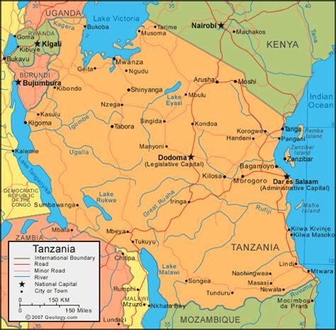 tanzania map  satellite image