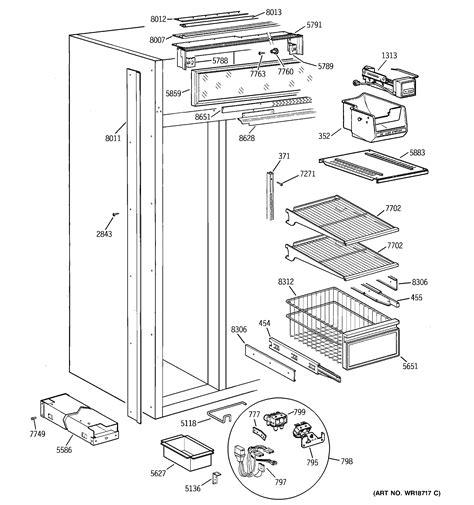 ge zisncb side  side refrigerator parts sears partsdirect