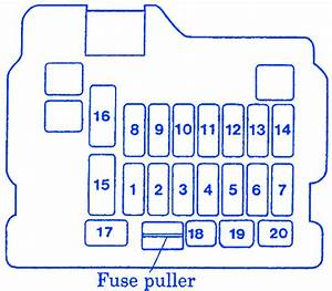 Mitsubishi Triton 2008 Fuse Box  Block Circuit Breaker Diagram  U00bb Carfusebox