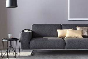 quelle decoration avec un canape gris anthracite With tapis shaggy avec canapé moderne 2 places