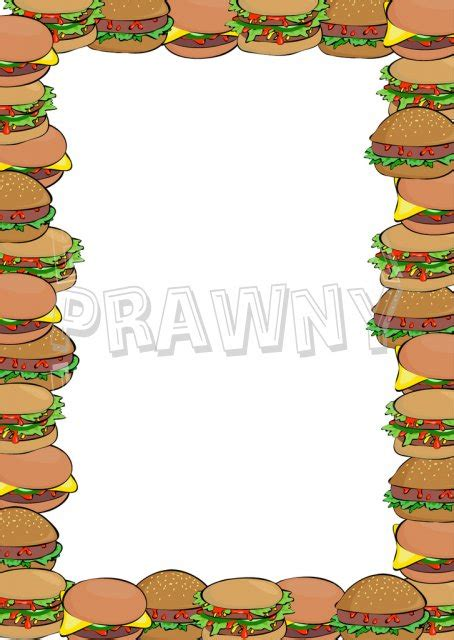 hamburger border clipart clipground
