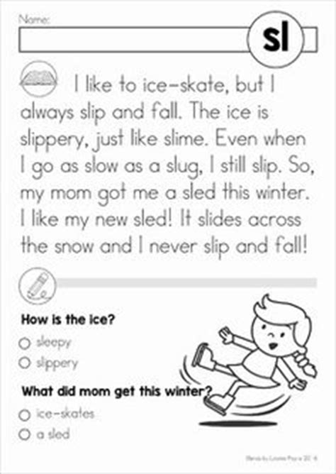 beginning blends reading comprehension passages br all and pictures