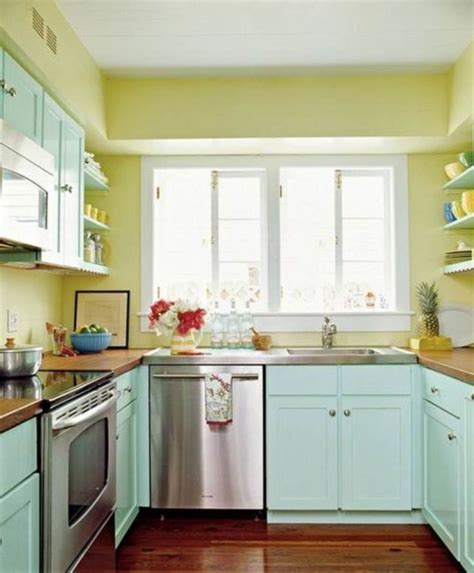 blue and green kitchen decor peinture cuisine 40 id 233 es de choix de couleurs modernes 7925