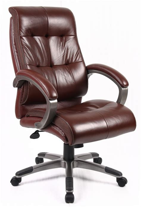 catania brown leather office chair