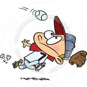 Cartoon Baseball Player Outfielder Clip Art