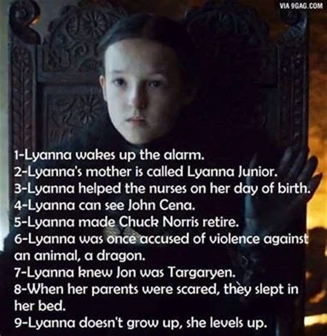 Lyanna Mormont Memes - 960 best game of thrones funny memes images on pinterest