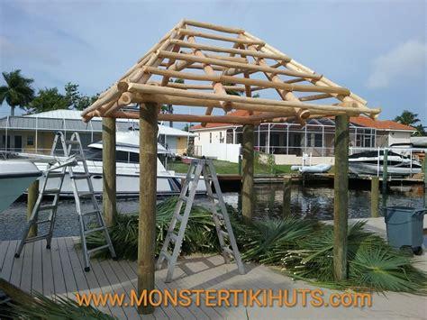 Tiki Hut Construction by 10 X12 Custom Tiki Hut Build Cape Coral Florida