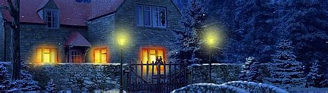 Snowy Cottage Animated Wallpaper - 3d snowy cottage animated wallpaper free to