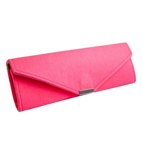 Neon Pink Denim Clutch Bag  Wow Clutch