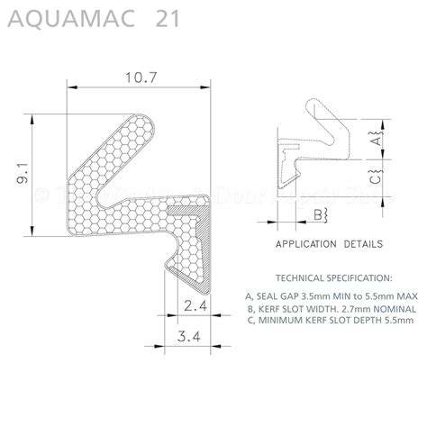 Aquamac 21 Aq21 Qlon Window Door Gasket Weatherseal