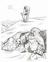 Coloring Bigfoot Pages Yeti Sasquatch Kolorowanki Clipart Printable Via Getdrawings Library Popular Happy sketch template