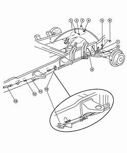 Dodge Ram 3500 Tensioner  Parking Brake Cable  Intermediate  Wheel  Lock  Brakes