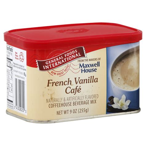 cuisine cappuccino general foods international coffeehouse beverage mix