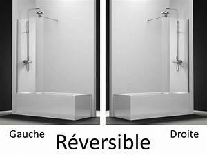 Pare Baignoire 60 Cm : parois de douche largeur 120 pare baignoire panneau fixe ~ Dailycaller-alerts.com Idées de Décoration