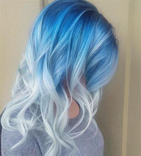 Ice Blue And White Hairs Hair Light Blue Hair Hair