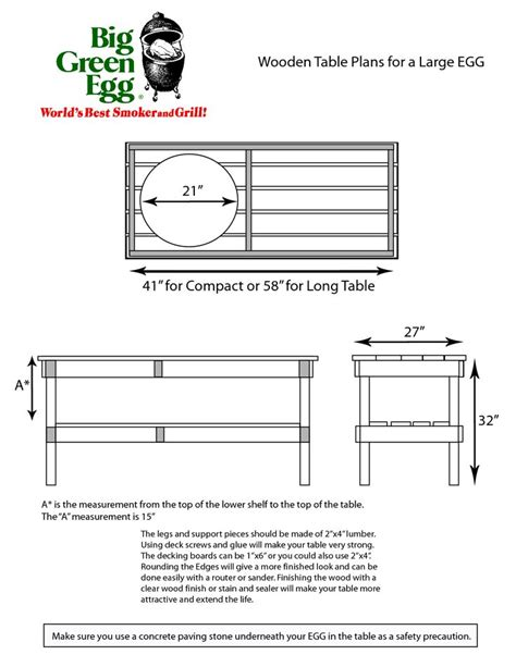 plans for large green egg table large big green egg table plans google search big