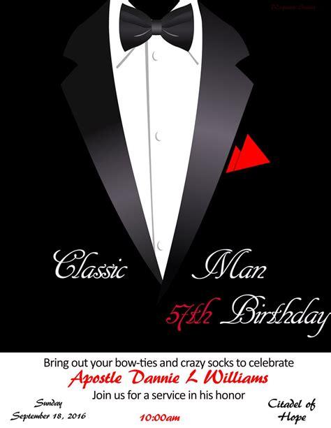 customized classic man invitation  images classic