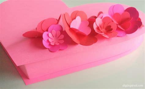 diy valentine heart box  paper flowers diy inspired