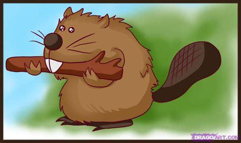 draw  beaver step  step cartoon animals