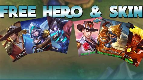 Mobile Legends Free Hero & Free Skin!