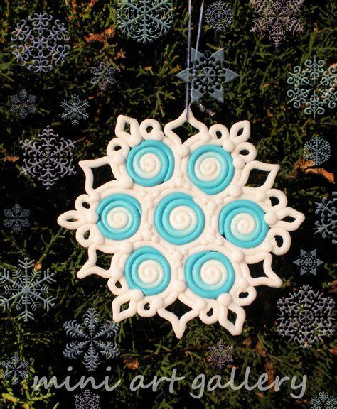 snowflake christmas ornaments handmade polymer clay