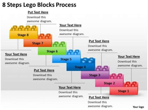management consulting  steps lego blocks process