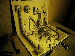 3d illusion sketchbook drawings by nagai hideyuki colossal for 3d illusion sketchbook drawings by nagai hideyuki