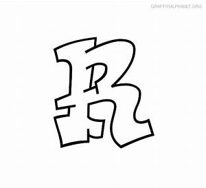 Graffiti Alphabet R Graffiti Letter R Printables ...
