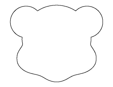 teddy bear head outline   clip art