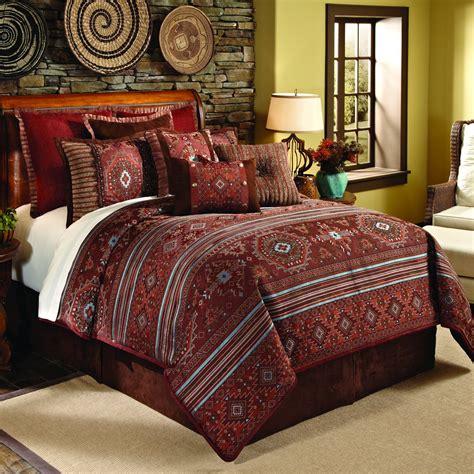 rust comforter set  full pueblo