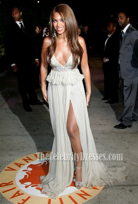 beyonce sexy evening dress prom gown vanity fair oscar