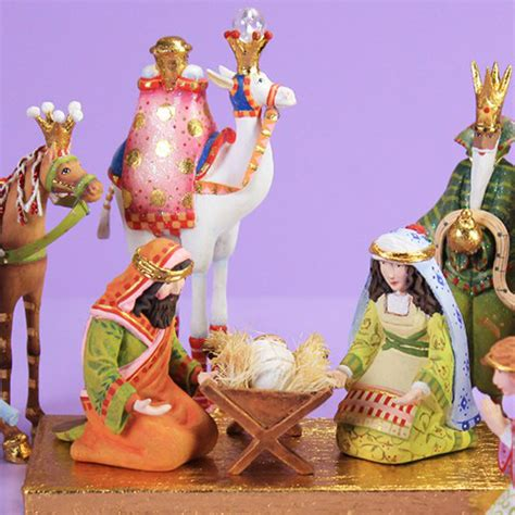 patience brewster h7 christmas holiday 13 pc mini nativity
