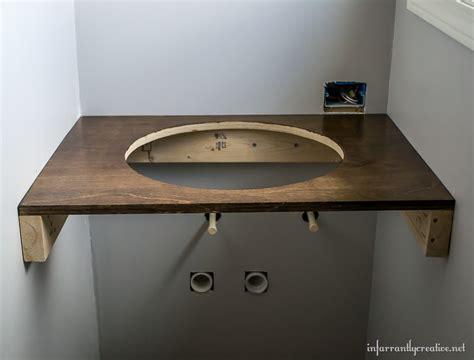 floating wood vanity diy floating wood vanity