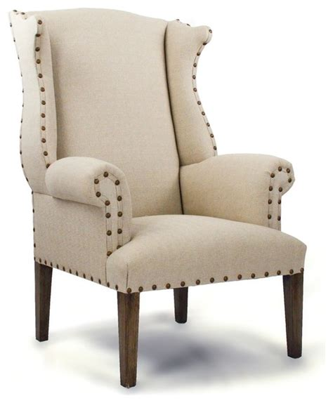 nailhead wingback chair traditional armchairs and