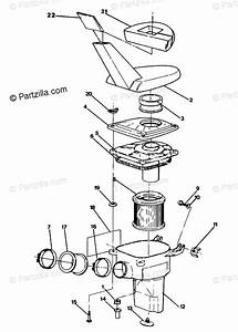 Polaris Atv 1991 Oem Parts Diagram For Air Box Assembly 350 4x4 Update