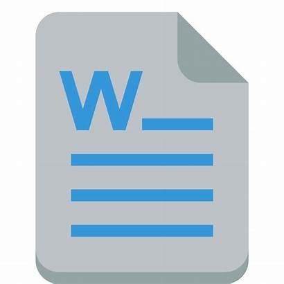 Word Icon Ico Flat Transparent Icns Svg