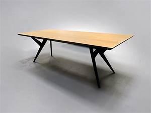 Table Bois Et Metal Salle Manger : artmeta table de salle manger ma reine metal et bois massif 3 artmeta ~ Teatrodelosmanantiales.com Idées de Décoration
