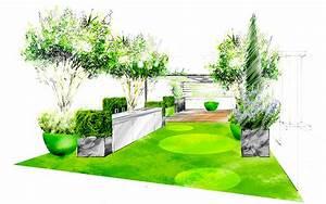 Jardin Dessin Couleur : fiorellino paysagiste conception plan et croquis une ~ Melissatoandfro.com Idées de Décoration