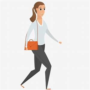 Walking Girl, Walk, Girl, Cartoon PNG and Vector for Free ...