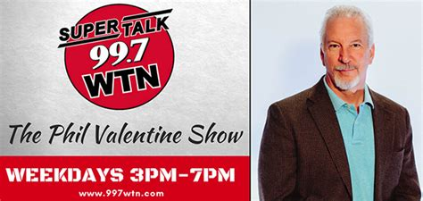 The phil valentine show is a conservative talk radio show based in nashville. Media Confidential: Nashville Radio: WTN's Phil Valentine ...