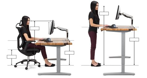 Standing Desk Height Calculator by Ergonomic Office Desk Chair And Keyboard Height Calculator