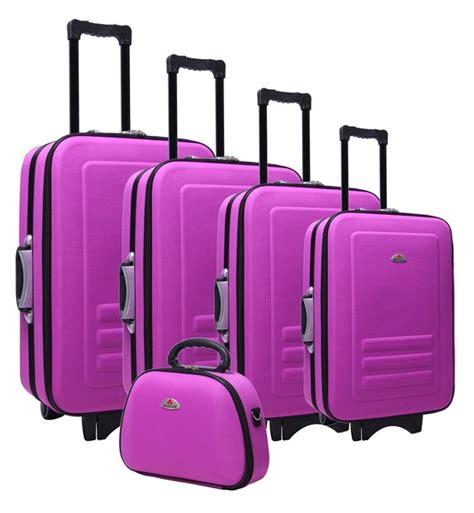 5pc Suitcase Trolley Travel Bag Luggage Set PURPLE ...