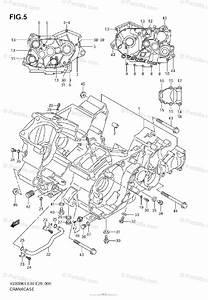 Suzuki Motorcycle 2005 Oem Parts Diagram For Crankcase