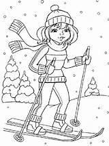 Skiing Coloring Printable Ski Ausmalbilder Bright Choose Colors Favorite Ausdrucken Malvorlagen Kostenlos Zum sketch template