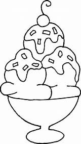 Sundae Clipartion sketch template
