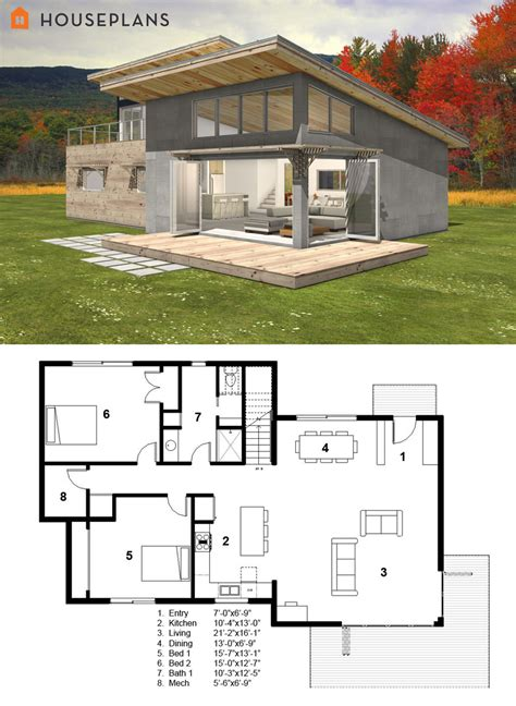 contemporary floor plans for homes small modern cabin house plan by freegreen energy