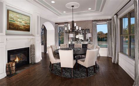 model home interiors model home interiors transitional dining room