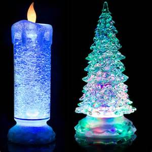 flickering candle christmas tree lights 24cm swirling led colour changing flameless flickering