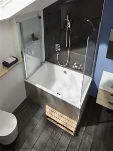 Douche Petit Espace : une baignoire dans une petite salle de bains c est possible carnet d 39 l gance ~ Voncanada.com Idées de Décoration